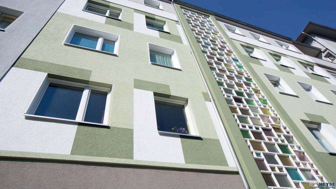Fassade Farbkonzept Fassadenbeschichtung Sanierung Denkmalschutz