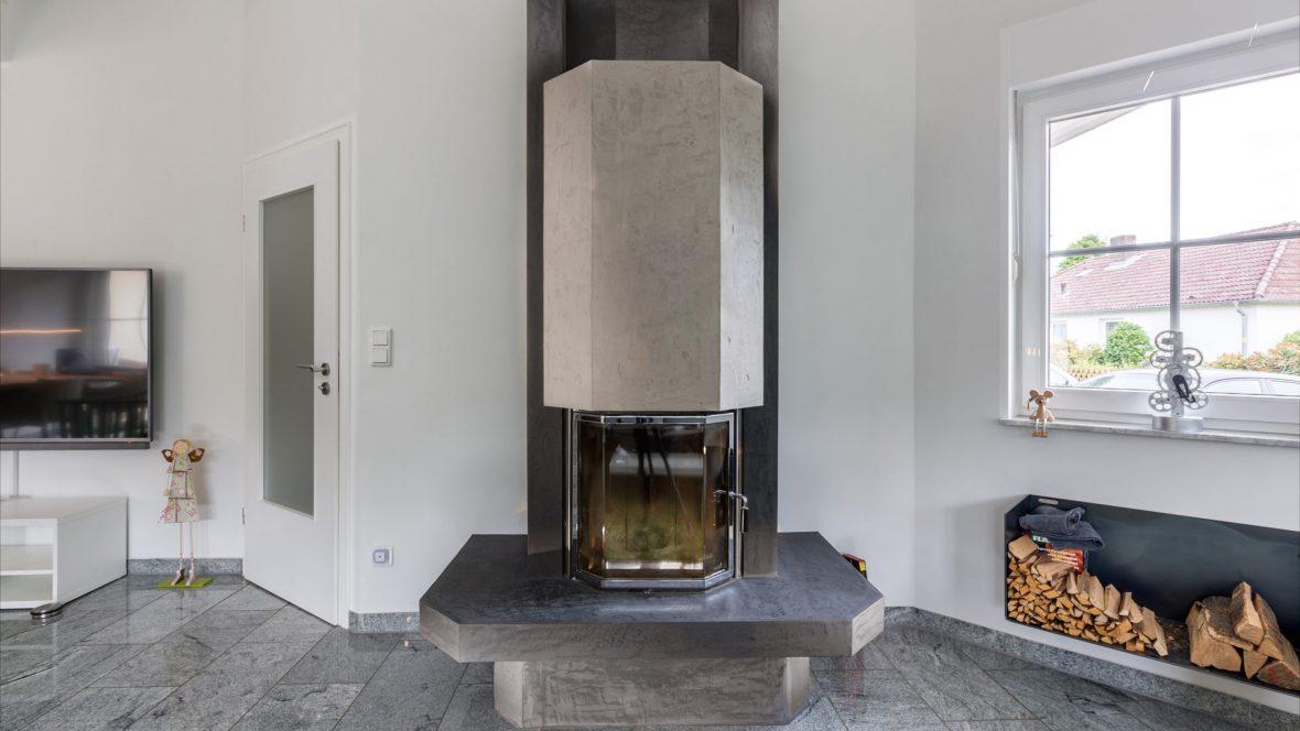 Kamin Betonoptik Edel und Stein Cara Unico Stone Maler Hannover