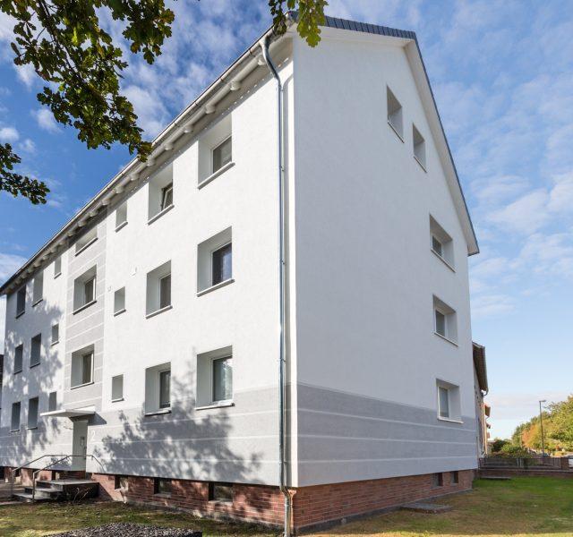 Altbau Fassade Waermedaemmung Hannover Langenhagen Wedemark Grau Weiß Streifen Alligator Farben