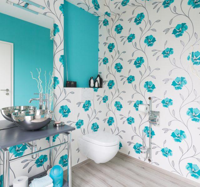 Bad WC Tapete Gestaltung Hannover