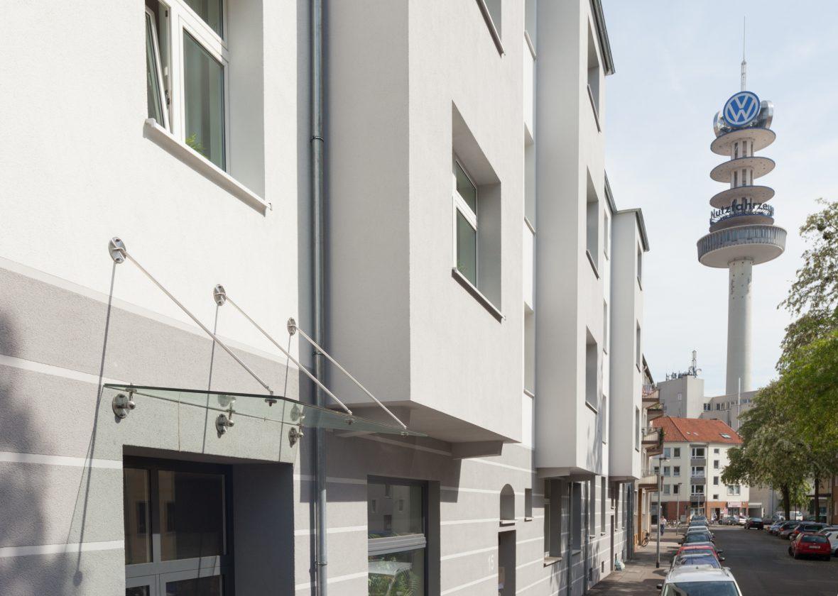 Fassade Waermedaemmung Brillux Qju Grau Streifen Hannover
