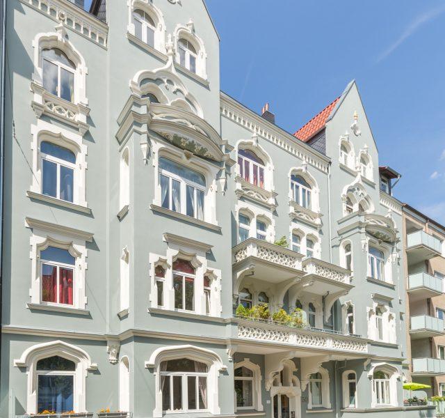 Green Lady Stuckfassade Stilfassade streichen sanieren erneuern Hannover