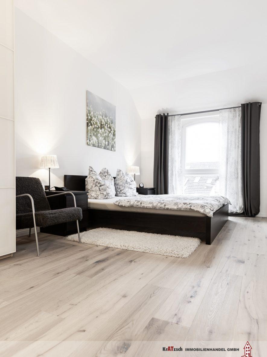 Schlafzimmer Altbausanierung Hannover Weiss
