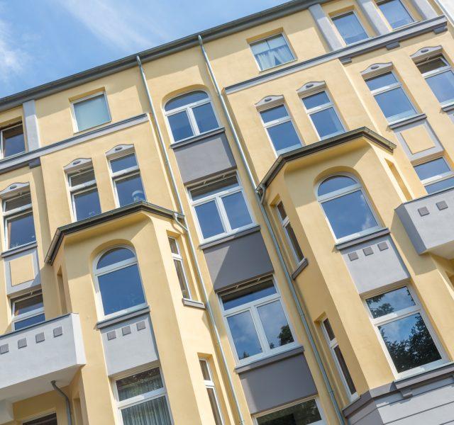 Stilfassade Gelb streichen Anstrich Fassade Hannover Alligator Farben