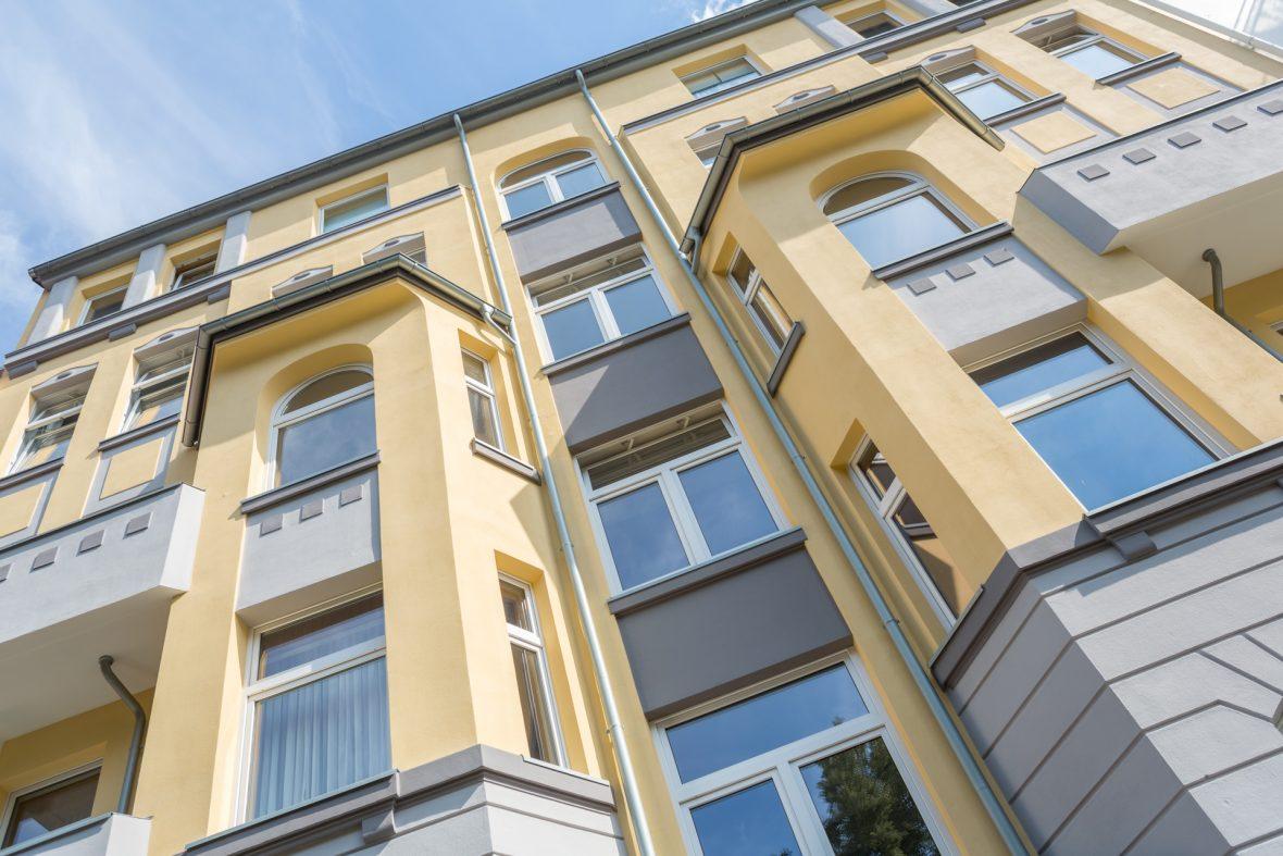 Stilfassade Gelb streichen Fassade Anstrich Hannover Alligator Farben