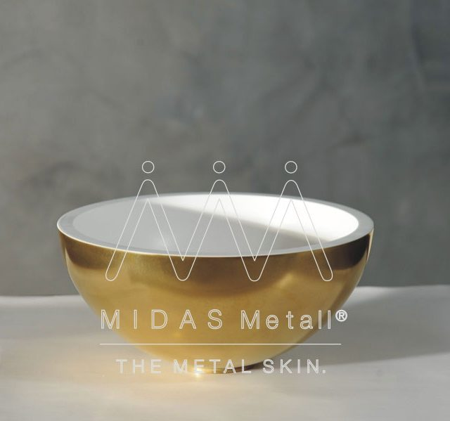 MIDAS Metall Gold Basin