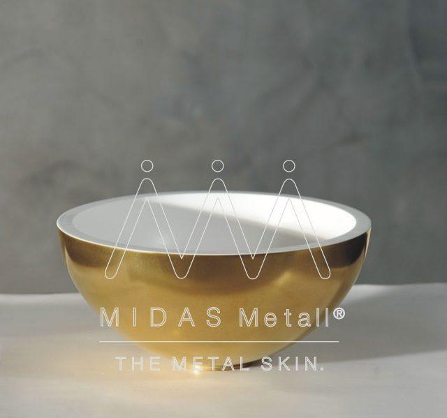MIDAS Metall Gold Basin