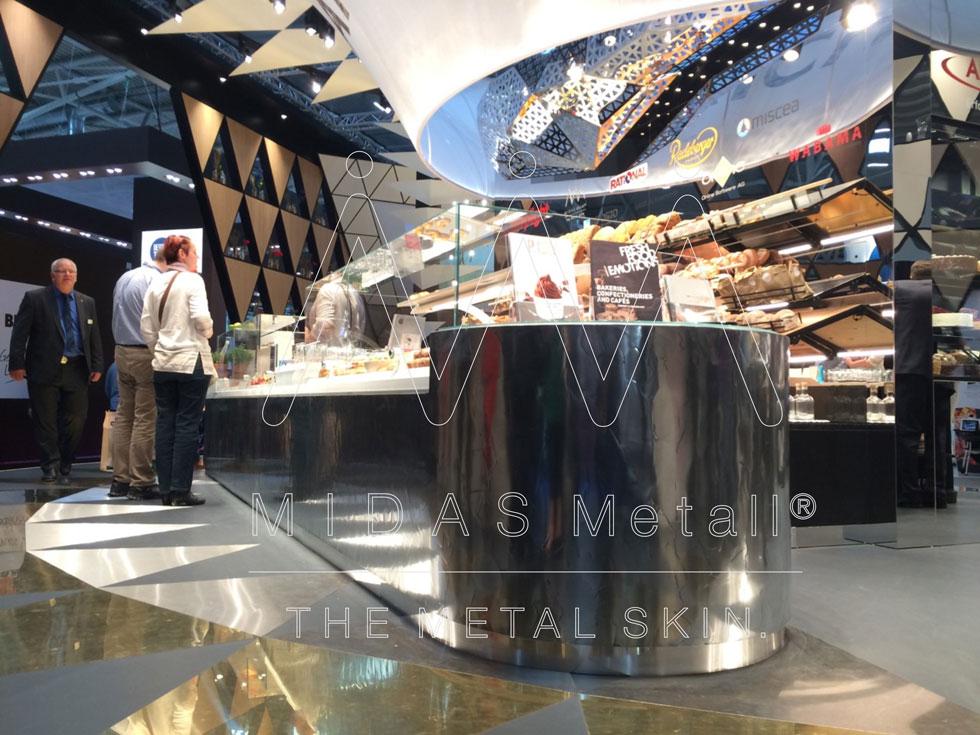MIDAS Metall Zink Bakery Desk Aichinger