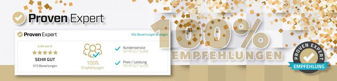 Provenexpert Banner MeinMaler Paertnerbetrieb HEYSE Kundenzufriedenheit PR Artikel