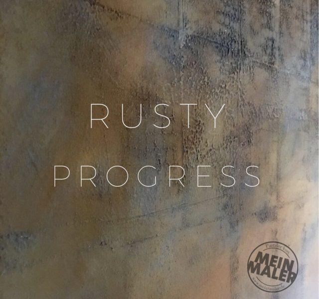 Wandgestaltung in Rostoptik