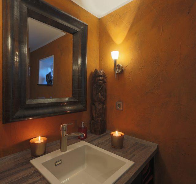 Rostoptik Gestaltung WC und Bad in Optik wie Rost Hannover