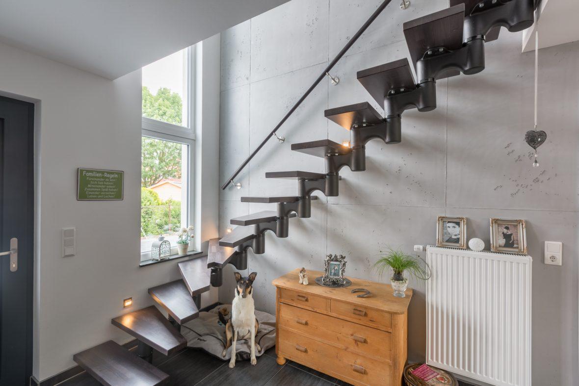 Sichtbetonoptik mit Schalungsfuge Edel und Stein Hannover