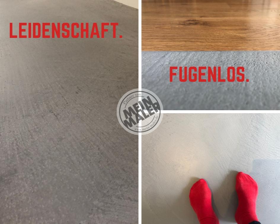 Fugenlos Boden Betonoptik Cara Resisto Classic Farbton ES 21 von Edel und Stein. Verarbeitet von Maler Heyse MeinMaler.