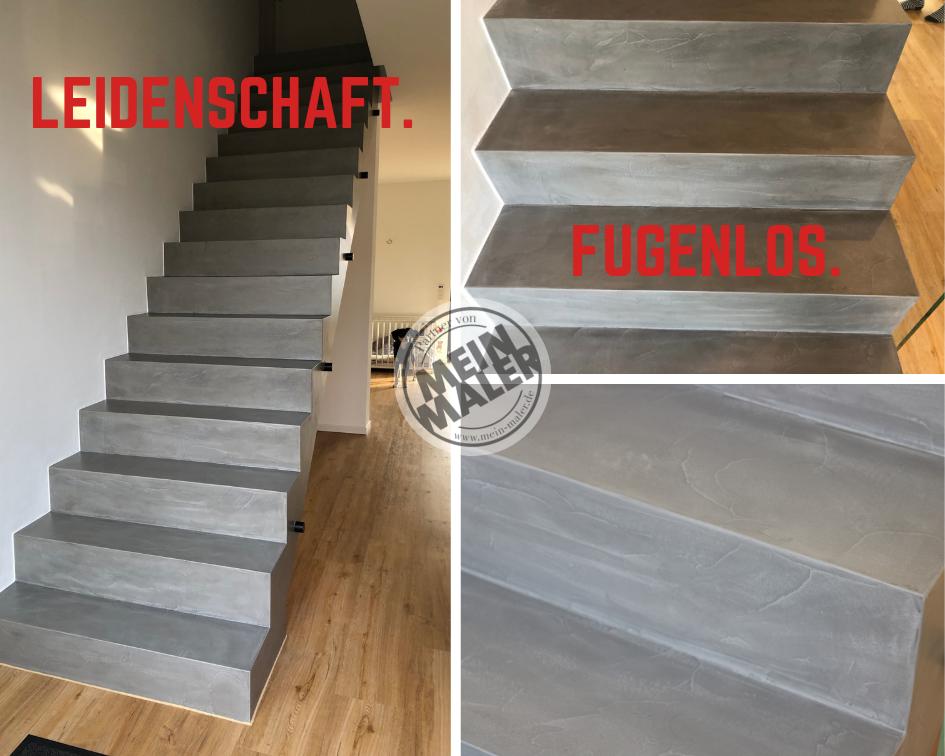 fugenlose Treppe Betonoptik Savamea Keramico Farbton 03 Maler Heyse Mein Maler