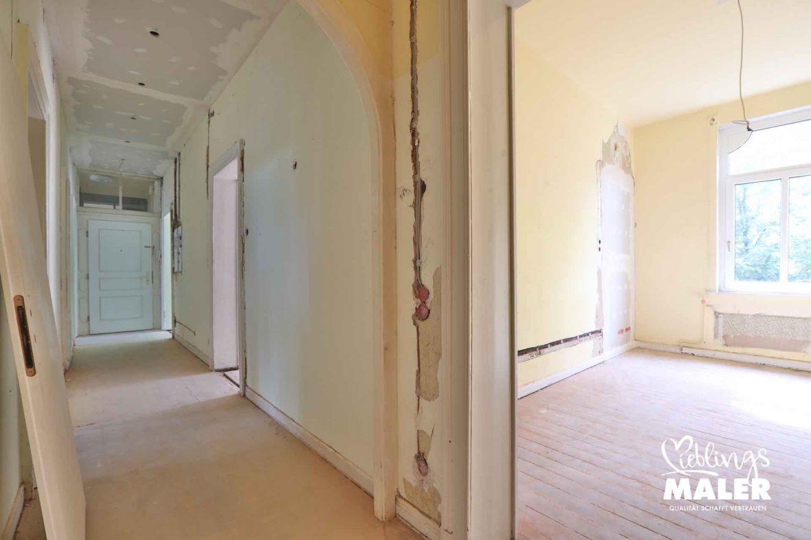 Altbau Sanierung Hannover Malerarbeiten Vorherbilder