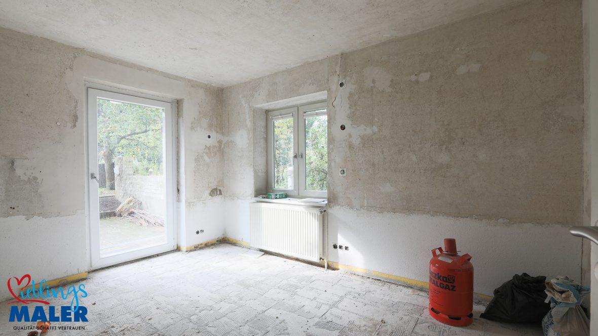 Sanierung Altbausanierung Malerarbeiten Hannover Fugenlos Spachteltechnik Abstellraum vorher 01