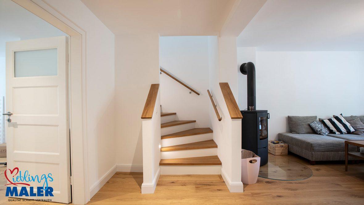 Sanierung Altbausanierung Malerarbeiten Hannover Fugenlos Spachteltechnik Treppe nachher 01