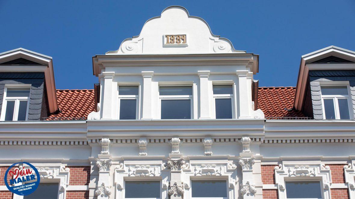 Fassadensanierung Denkmalschutz Fassade 1892 Fassadendoktor Boedekerstrasse Hannover List Oststadt 11