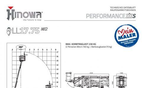 Raupenarbeitsbuehne Technisches Merkblatt 01