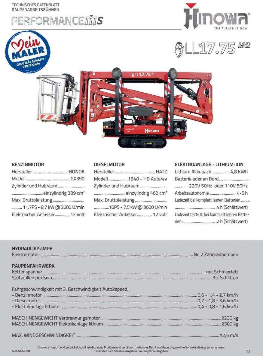 Raupenarbeitsbuehne Technisches Merkblatt 02